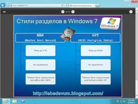 Как сделать динамический диск основным в windows 7